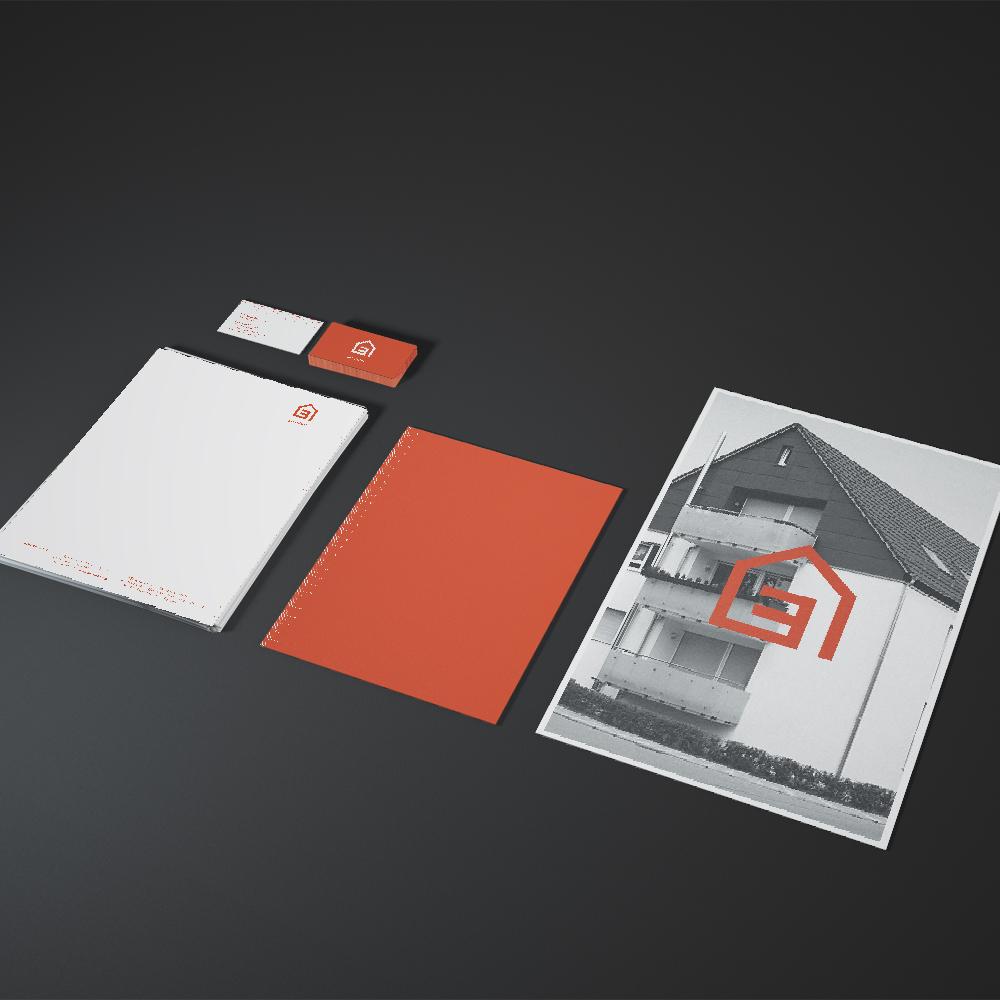 Briefpapier und Visitenkarten / Corporate Design für Bau Hoch Drei – Bauträger Pforzheim
