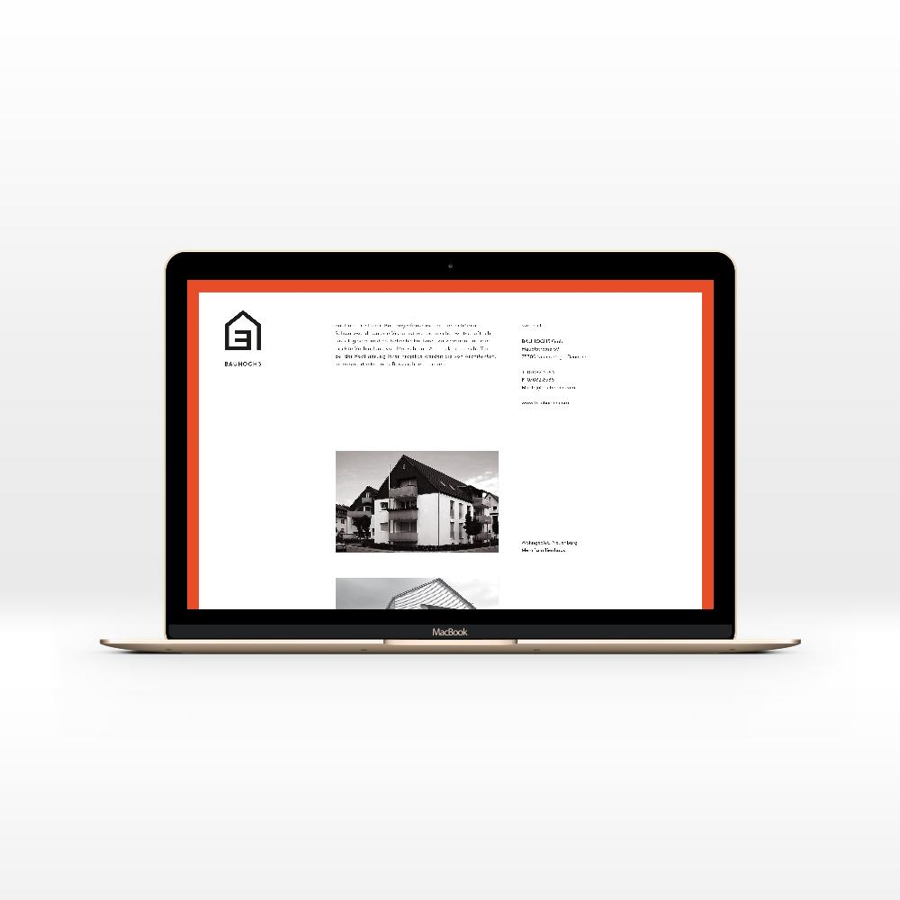 Webseite / Corporate Design für Bau Hoch Drei – Bauträger Pforzheim